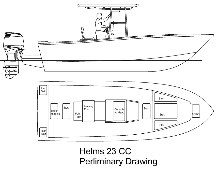 Helms 23 Center Console